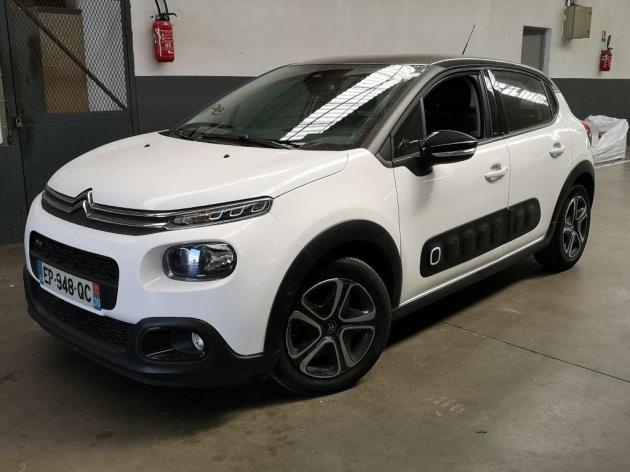 Citroen C3 PURETECH 110CH SHINE S&S EAT6 Essence BLANC Occasion à vendre